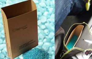 Le Formybagoto® (cendrier en carton ignifugé à insérer dans un Bagoto®) fourni avec un sachet de sable parfumé