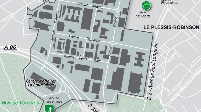 Plan du Parc d'affaires NOVEOS